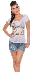 Bílé dámské triko in-tr1177wh