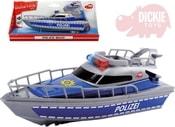 Člun 30cm plastový policejní loďka na baterie