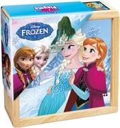 Kostky dřevěné dětské obrázkové set 9ks Ledové Království