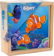 Kostky dřevěné dětské obrázkové set 9ks Hledá se Dory