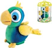 Benny papoušek plyšový 15cm na baterie opakující slova v kleci