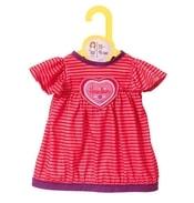 Dolly Moda oblečení šaty se srdíčkem, 38-46 cm