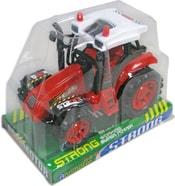 Traktor zemědělský na setrvačník plastový 2 barvy