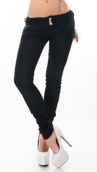 Dámské černé skinny džíny st-ri437