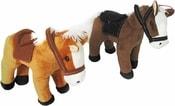 Koník stojící Frantík 20cm se sedlem 2 barvy