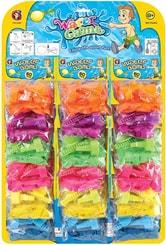 Bomba mini vodní set 60ks balonky na vodu se stojánkem v sáčku 6 barev