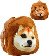 Taška dětský batůžek 30cm s hlavičkou zvířátka na zip 4 druhy