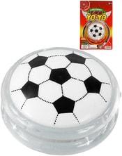 JO-JO dětské plastové yoyo se světlem fotbalový míč na kartě