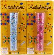 Kaleidoskop dětský krasohled plastové kukátko na kartě 2 barvy