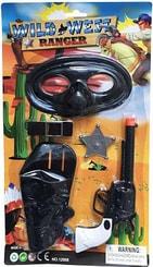 Kovbojský set pro děti s pistolí, odznakem a doplňky 5ks na kartě plast