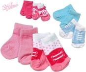 BABY BORN set 2 páry ponožek pro panenku 43 cm 3 druhy