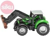 Model traktor s kleštěmi na dříví kov