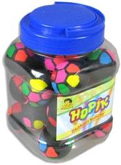Skákací dětský míček 4cm barevný skákačák set 24ks v plastové dóze