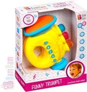 Trumpeta zábavná plastová s melodiemi pro miminko Zvuk