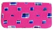Moderní riflová peněženka se záplatami T483 růžová riflovina