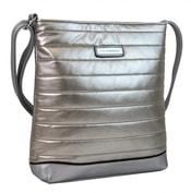 Elegantní prošívaná crossbody kabelka YH1601 stříbrná