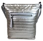 Velká prošívaná crossbody kabelka YH1608 stříbrná