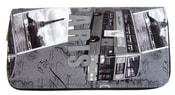 Moderní peněženka s motivem Paříže T519 šedá