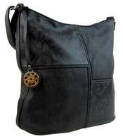 Velká crossbody kabelka s ornamenty 1768-BB černá