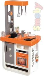 Kuchyňka dětská Bon Appetit oranžová set s nádobím a potravinami