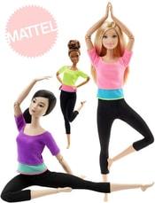 Barbie panenka fitness realistický pohyb 22 kloubů ohebná