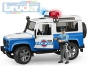 Auto policie Land Rover Defender + figurka model 1:16 plast 02595 (2595)