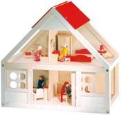 Domeček pro panenky set s vybavením 26 ks