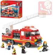 Stavebnice HASIČI požární auto set 270 dílků + 3 figurky