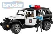 Auto jeep Wrangler Rubicon Policie + figurka model 1:16 02526 (2526)