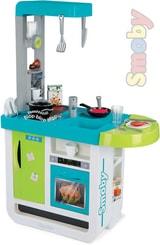Kuchyňka dětská Bon Appetit modro-zelená set s nádobím a potravinami