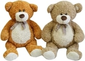 Medvěd s károvanou mašlí 80cm 2 barvy