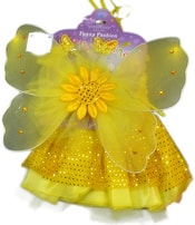 Šaty žluté princezna s křídly slunečnice