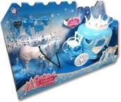 Kočár plastový 20cm pro princeznu set česací kůň s doplňky