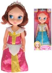 Panenka Princezna velké oči 40cm s čelenkou 2 druhy v krabičce