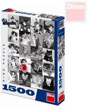 Puzzle Kočky maxi XL 60x84cm 1500 dílků v krabici