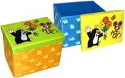 KRTEK Box skládací úložný na hračky i sezení 2v1 40 cm 2 barvy