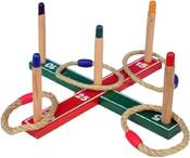 Hra kříž házecí set s kruhy z provazu v sáčku