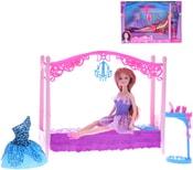 Panenka kloubová 29cm set s postelí a doplňky plast