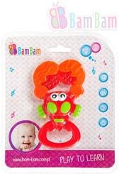 Baby chrastítko krevetka na kartě pro miminko