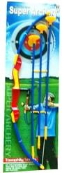 Luk dětský plastový set se 3 šípy s přísavkami