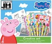 Kreativní set s voskovkami a samolepkami prasátko Peppa Pig