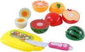 Sada krájecí na suchý zip ovoce a zelenina set 10ks s prkénkem a nožíkem v krabi