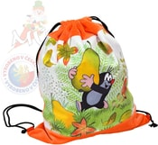 Krtek baťůžek stahovací oranžový hruška
