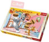 PUZZLE Disney Tom a Jerry: Vydatná snídaně 24 dílků 60x40cm 114210
