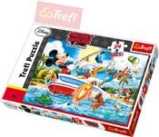PUZZLE Disney Mickey Mouse a přátelé: Na rybách 24 dílků 60x40cm 114221
