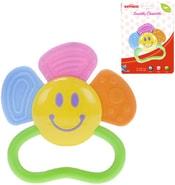 Kousátko Baby´s Happiness květinka 10cm s držátkem pro miminko