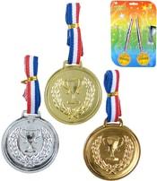 Sada 3 kovové medaile trikolora pro vítěze na kartě