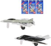 Letadlo kovové 7cm volný chod set 2ks na kartě