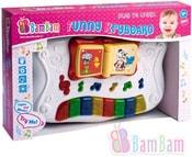 Baby keybord 30cm hudební naučný plastový Světlo Zvuk