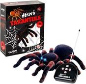 Tarantule děsivá 22cm na baterie svítí oči na dálkové ovládání Světlo